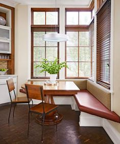 Kitchen banquettes can be customized to integrate seamlessly into a layout, add hidden storage and do what they've always done best: provide an intimate spot to gather and connect.  Here are seven ideas for adding kitchen seating banquette-style.