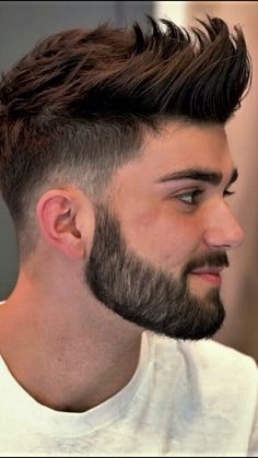 Gents Hair Style - All Fashion Ideas Here! Mens Hairstyles With Beard, Cool Hairstyles For Men, Boy Hairstyles, Haircuts For Men, Latest Hairstyles, Beard Styles For Men, Hair And Beard Styles, Curly Hair Styles, Gents Hair Style