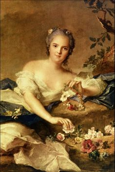 Madame Henriette en Flore - Jean Marc Nattier (cropped) - Category:Henriette of France as Flora (Nattier) - Wikimedia Commons Jean Antoine Watteau, Pick Art, French Paintings, Romantic Paintings, Famous Artwork, Victorian Art, Portraits, France, Art For Art Sake