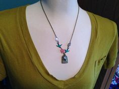Blue Bird and Cage Necklace// 20 inches by GenuinelyHannah on Etsy, $32.00