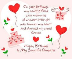Happy Birthday Daughter – Wishes , Quotes, Messages