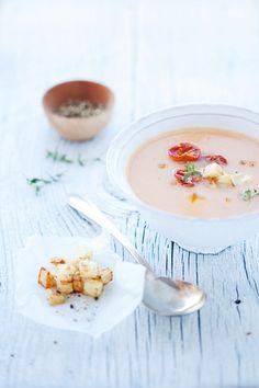 green heirloom tomato & celeriac soup
