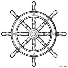 "Download the royalty-free vector ""rudder - ship wheel"" designed by tribalium81 at the lowest price on Fotolia.com. Browse our cheap image bank online to find the perfect stock vector for your marketing projects!"