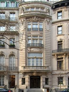Frederick lydia prentiss house beaux arts townhouse for Upper east side homes