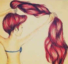 Long red hair #ariel