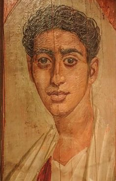 https://flic.kr/p/AvnpSB | Mummy portrait mask of a handsome young Roman male Faiyum Egypt Late 1st century CE Encaustic (wax and pigments) on wood | In Roman Egypt (30 BCE-324 CE) artists adapted naturalistic painting styles to the ancient custom of making portrait masks for mummies.  The portraits were often painted while the subject was in the prime of life and were hung in the home until the person's death.  This practice continued in northern Egypt well into the Early Byzantine Period…