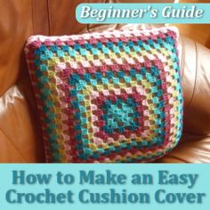 how to make a round crochet cushion cover