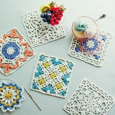 crochet colour work - inspiration