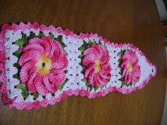 Porta Papel Higiênico de crochê com 3 lugares e cores a combinar