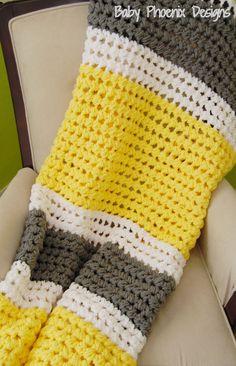 Hand Crocheted afghan gender neutral by BabyPhoenixDesigns