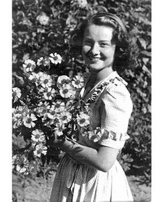 One of the first portraits taken of Audrey Hepburn after the liberation of Holland, 1946
