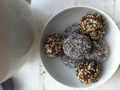 Bliss Balls - Bliss balls are so easy to make. There's no cooking, no fussing and no lengthy preparation time. Simply throw your ingredients into the blender, whiz away and then roll into balls. Here are three recipes for you to enjoy these holidays as a healthy and delicious treat. Recipes for Chocolate (Cacao) and Cashew Bliss Balls, Sesame Bliss Balls, and Tahini Bliss Balls