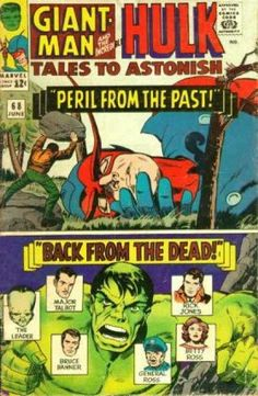 The Incredible Hulk - Giant Man - Peril From The Past - Back From The Dead - Marvel Comics - Jack Kirby