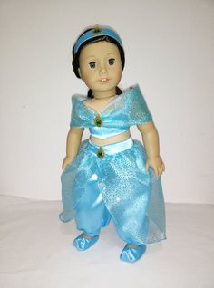 Disney Princess Jasmine (Aladdin) outfit for American Girl Doll
