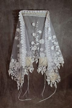 Jewish Wedding Bridal Shawl by Queen Esther Hair Covers - mazelmoments.com
