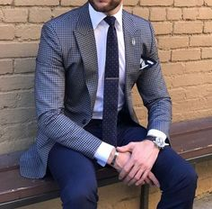 Men's style inspiration - suits - ties - pocket squares #ad
