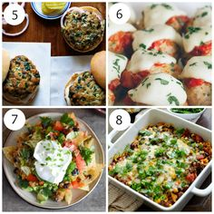 Turkey spinach sliders, parmesan meatballs, turkey nachos, and turkey ...