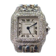 Small Cartier Santos Demoiselle Diamond Ladies Watch MG297966   From a unique collection of vintage wrist watches at http://www.1stdibs.com/jewelry/watches/wrist-watches/