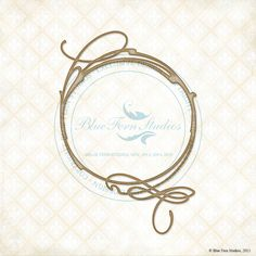 New Reneabouquets Listing~Blue Fern Studios Laser Cut Chipboard Swirly Circle 10.3 Inches Tall x 7 Inches Wide