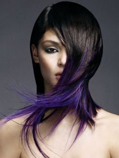 Kinda the way my color is done!  Perfect if you want color w/out looking too young.  And if you flip and part it on the other side you expose more color!  2 for 1 look!!!