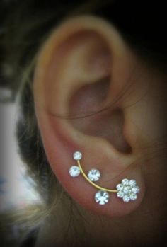 Cute flower earrings (pinterest doesn't like the original link - had to upload the pic. No link!).