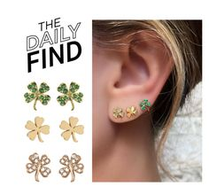 """""""Daily Find: Jennifer Meyer Earrings"""" by polyvore-editorial ❤ liked on Polyvore featuring Jennifer Meyer Jewelry and DailyFind"""
