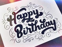 Happy Birthday. Lettering by Leo Gomez