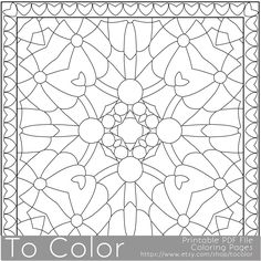 Printable Coloring Pages For Adults Mandala Snowflake