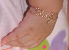 Sold Gold Personalized Baby Name Bracelet - Gold Baby Wire Jewelry - Gold Name Bracelet Gold Baby Jewelry - Gold Gold Diamond Wedding Band, Gold Wedding Rings, Rose Gold Engagement Ring, Baby Jewelry, Kids Jewelry, Gold Jewelry, Handmade Jewelry, Handmade Accessories, Diamond Jewelry