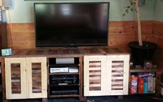 Entertainment center from reclaimed wood! More like this in the works.