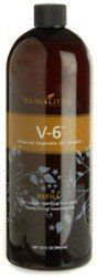 EssentialOilsLife - V-6 Enhanced Vegetable Oil Refill - 32 oz by Young Living. $55.29. V-6 Enhanced Vegetable Oil Complex is used to dilute certain essential oils and can be mixed to create custom blends, formulas, and massage oils. This oil complex nourishes the skin, has a long shelf life, doesnâ?t clog pores, and will not stain clothes. V-6 is offered in both 8-ounce and 32-ounce refill bottles