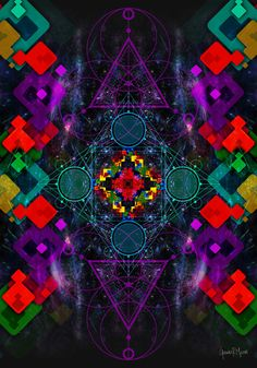 Virtual Art, Visionary Art, Psychedelic Art, Outer Space, Paper Art, Mystic, Print Design, Art Gallery, German