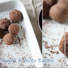 Nougat-Schokoladen-Küsse