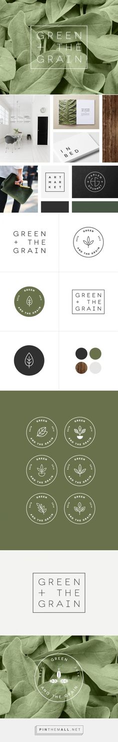 New Work Green & The Grain | Rowan Made {cT} | Beautiful natural elements in brand design.