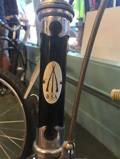 BSA Birmingham Small Arms bike head tube badge