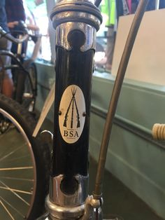 BSA Birmingham Small Arms bike head tube badge