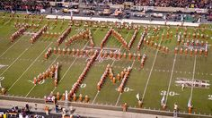 """Texas' band closed its halftime performance with a rendition of """"Thanks for the Memories"""" while bidding farewell to Texas A & M"""