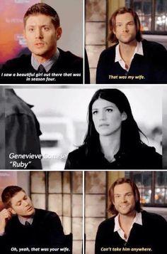 Jensen and Jared on Gen Jensen Ackles, Jared And Jensen, Jared Padalecki, Destiel, Supernatural Memes, Supernatural Birthday, Supernatural Crossover, Spn Memes, Captive Prince