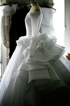 A peek into the atelier before the Christian Dior haute couture show.