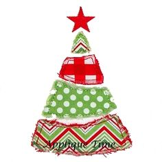 Divided Christmas Tree Applique - 2 Styles! | Christmas | Machine Embroidery Designs | SWAKembroidery.com Applique Time