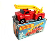 Matchbox Superfast No: 13f Snorkel Fire Engine by VintageUKDiecast