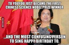 Congrats Professor Tu Youyou! #9gag