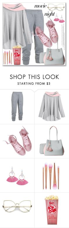 """""""Sporty Style"""" by jecakns ❤ liked on Polyvore featuring Under Armour, sporty, movieNight, hoodie and zaful"""