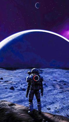 No man's sky Galaxy Wallpaper, Wallpaper Backgrounds, Wallpapers, Astronaut Wallpaper, No Man's Sky, Futuristic Art, Space And Astronomy, Science Fiction Art, Fantasy Landscape