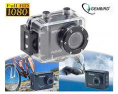 Dagaanbieding: Gembird Full-HD Waterdichte Action Camera - Inclusief Accessoires!