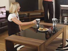 Modern Coffee Table Gloss Home Furniture Tea Lounge Storage Patio Shelf Wooden