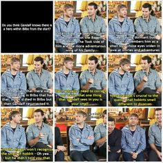 HAHA Got to love Martin Freeman and Richard Armitage!
