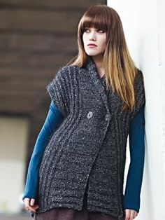 facebook_like  Knit this womens ribbed cardigan worked sideways from the Frost Collection. A design by Sarah Hatton using Frost, a soft to the touch metallic yarn comprising 20% alpaca and 80% viscose blend. This knitting pattern is suitable for beginners.