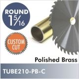 "Polished Brass 1-5/16"" Diameter Rod, CUSTOM CUT. Starting at $8.75"