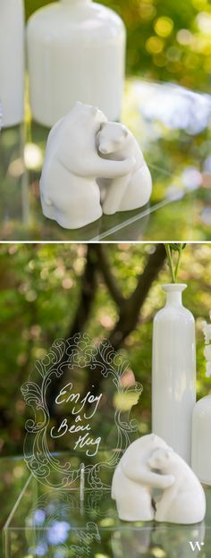 Enjoy a Bear Hug - Salt and Pepper Shakers are fantastic wedding favors! Get yours here: http://www.weddingstar.com/product/interlocking-bear-hug-miniature-salt-and-pepper-shakers-with-gift-packaging